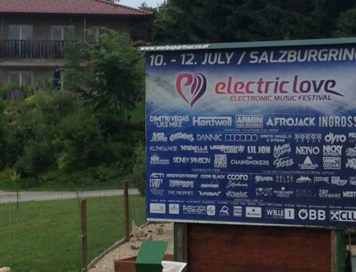 16 Bogen Werbung Electric Love Festival